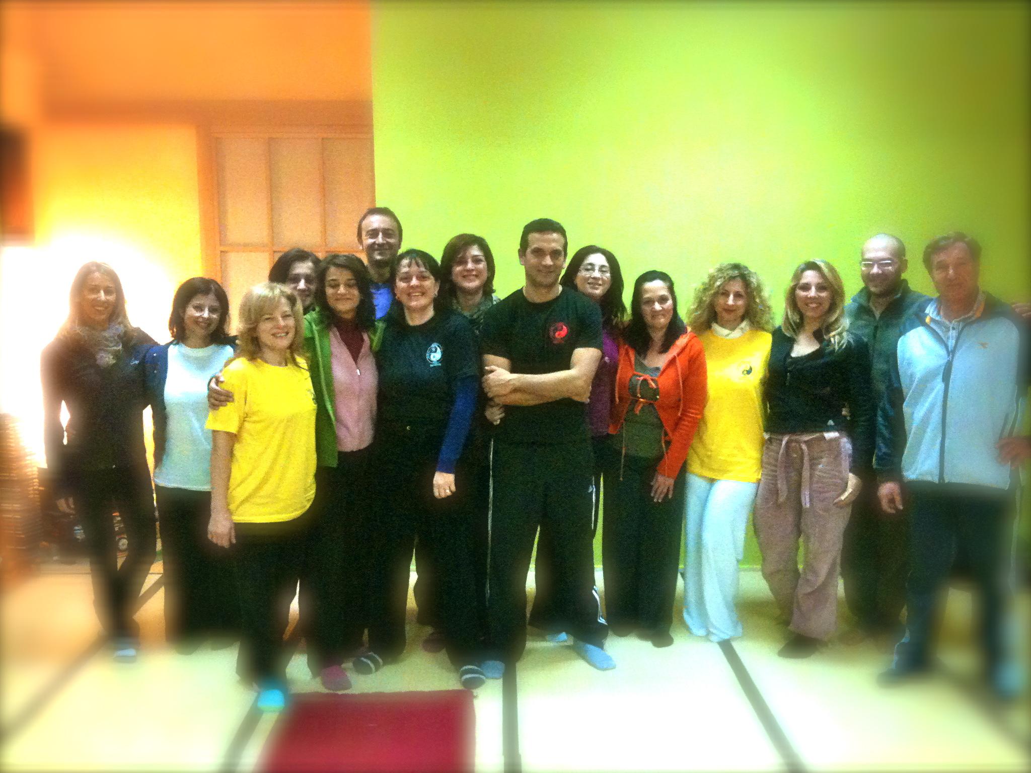 foto di gruppo studenti con il master G. Scarascia