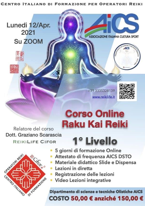 Corso online raku Kai Reiki 1 livello 12 aprile 2021