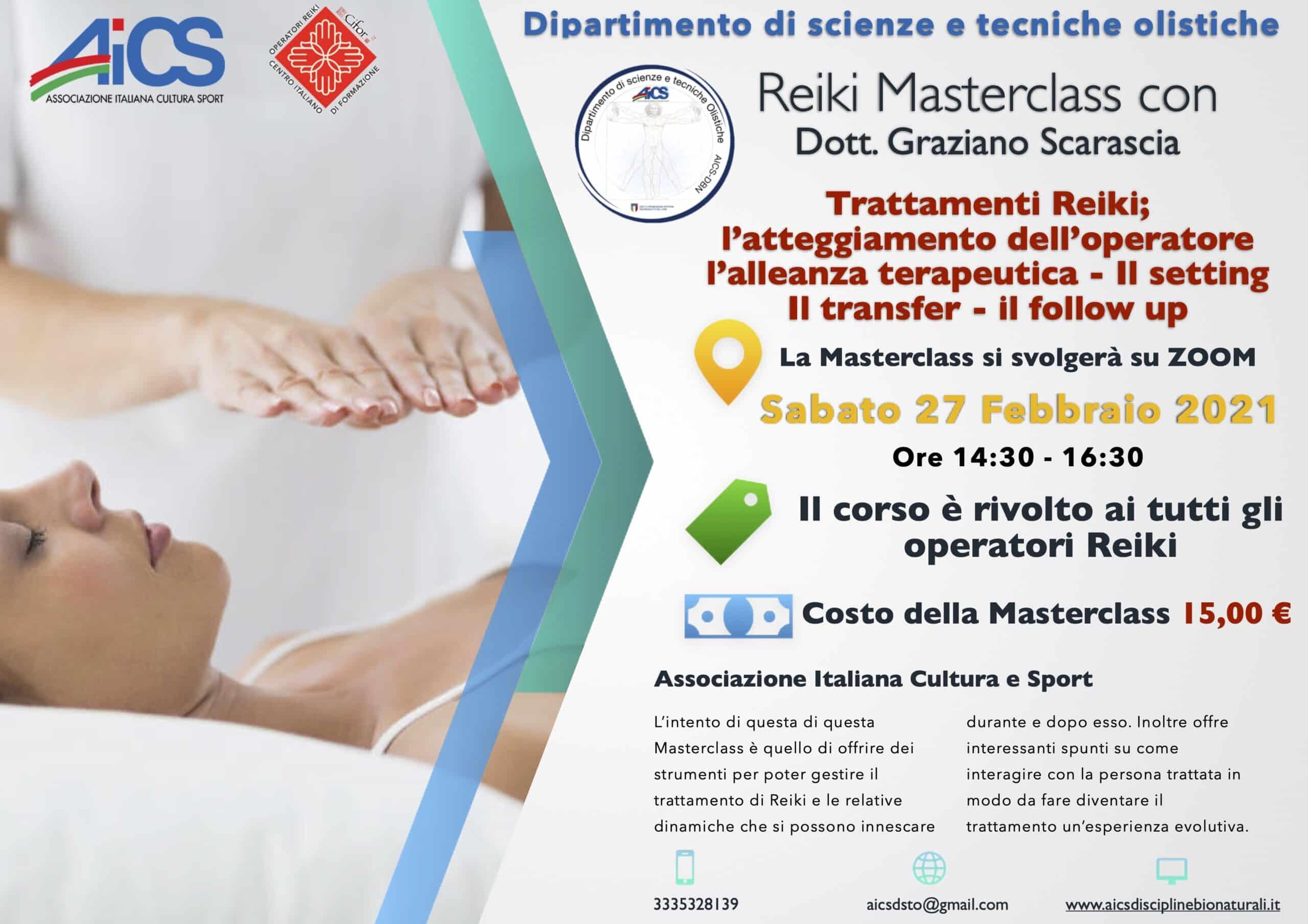 reiki masterclass con Graziano Scarascia