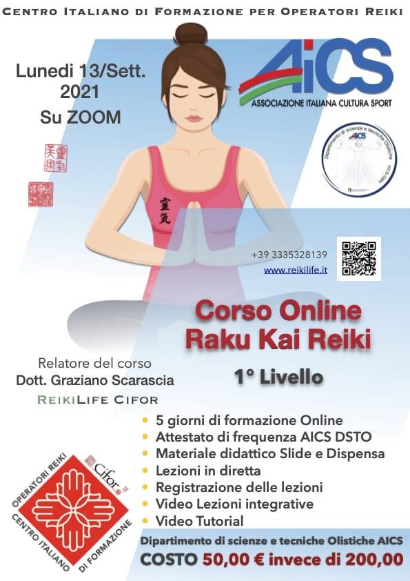 Corso online Raku kai reiki settembre